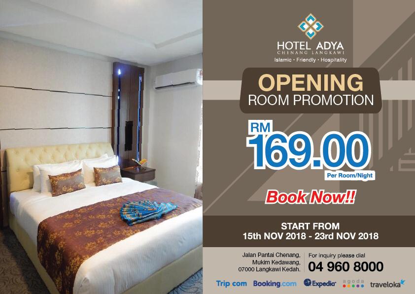 Promosi Pembukaan Hotel Adya Chenang, Langkawi