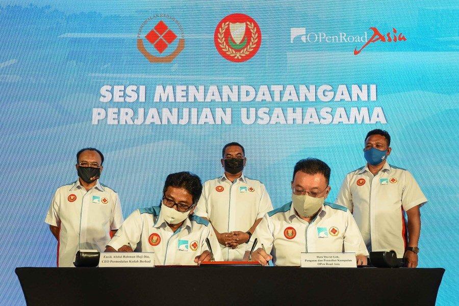 Majlis Menandatangani Perjanjian Usahasama Permodalan Kedah Berhad & Open Road Asia Sdn. Bhd.